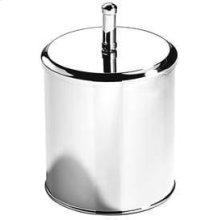 Satin Nickel (us15) Bathroom bin with Lid