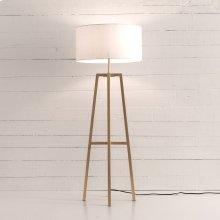 Brass Finish Lewis Floor Lamp