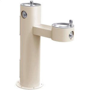 Elkay Outdoor Fountain Bi-Level Pedestal Non-Filtered, Non-Refrigerated Freeze Resistant Beige Product Image
