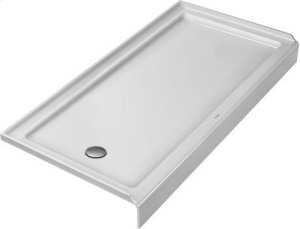 White Architec Shower Tray With Panel Product Image