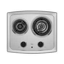 21-inch Electric Cooktop with Stainless Steel Surface