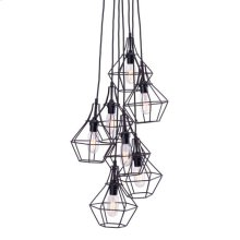 Palmerston Ceiling Lamp Distressed Black