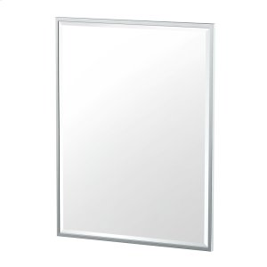 Flush Mount Framed Rectangle Mirror in Chrome Product Image