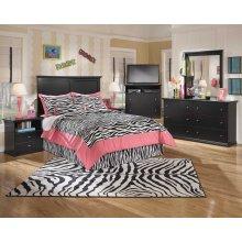 Maribel - Black 8 Piece Bedroom Set
