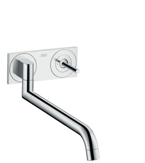 Chrome Single lever kitchen mixer for concealed installation wall-mounted Product Image