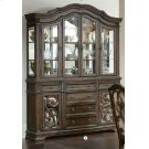 Ilana Traditional Antique Java China Cabinet With Glass Doors Product Image