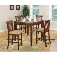 Five-piece Casual Cherry Counter-height Dining Set