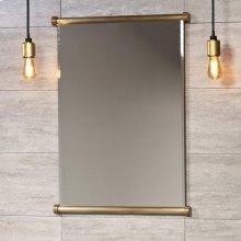 Elemental Mirror Aged Brass Unlaquered