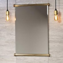 Elemental Mirror Aged Brass Unlaquered