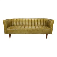 Barin Leather Sofa Green