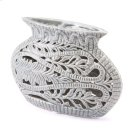 Leaves Short Vase Gray Product Image