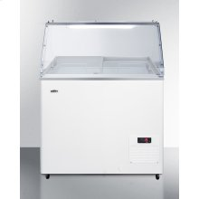 """30"""" Wide Fully Assembled Commercial Dipping Cabinet Made In Europe With Digital Thermostat, Sneezeguard, and Light"""