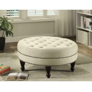 Traditional Round Cocktail Ottoman Product Image