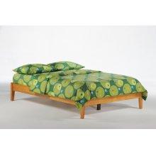 P-Series Basic Bed in Medium Oak Finish