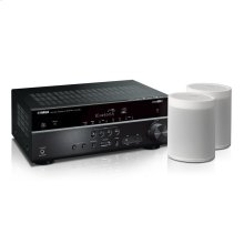 MusicCast RX-V485 Bundle - White 5.1-Channel AV Receiver with MusicCast