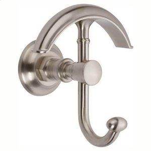 Satin Nickel Double Robe Hook Product Image