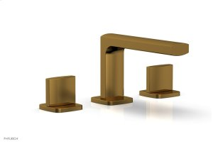 RADI Widespread Faucet - Blade Handles Low Spout 181-04 - French Brass Product Image