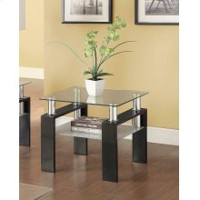 Occasional Contemporary Black End Table