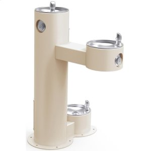 Elkay Outdoor Fountain Bi-Level Pedestal with Pet Station, Non-Filtered Non-Refrigerated Beige Product Image