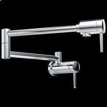 Chrome Contemporary Wall Mount Pot Filler