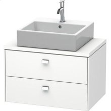 Brioso Vanity Unit For Console Compact, White Matte