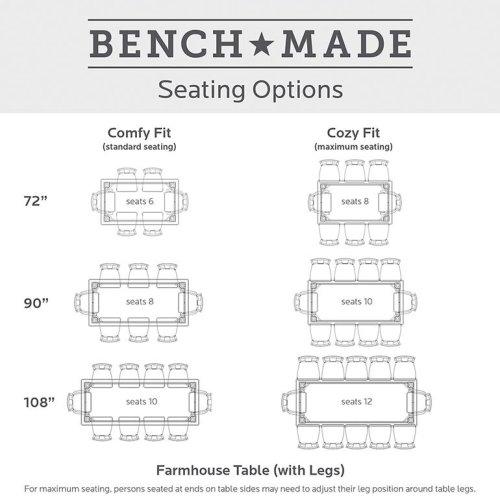 "Bench*Made Maple 126"" Farmhouse Table"