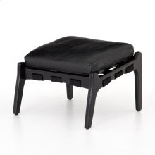 Aged Black Cover Silas Ottoman