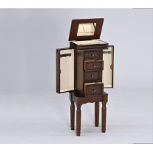 WALNUT JEWELRY ARMOIRE