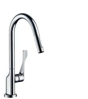 Chrome Single lever kitchen mixer 250 with pull-out spray Product Image