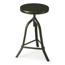 This wonderfully low-tech iron stool with acacia solid-wood seat can be adjusted to the ideal height for the space or the occasion. The simplicity of its design gives it versatility to add character and style with virtually any decor.