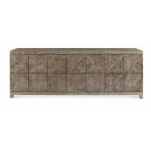 Casa Bella Low Media Console Timber Gray Finish