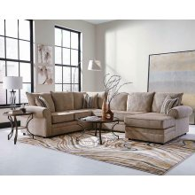 Fairhaven Transitional Cream Herringbone Sectional