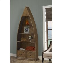 Tuscan Retreat® Dinghy Boat 4 Shelves Bookcase With Drawers - Antique Pine