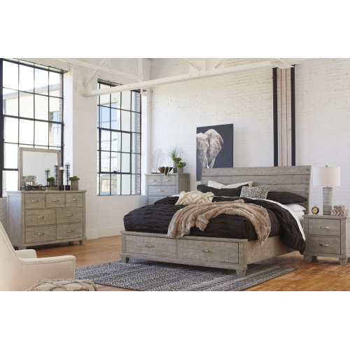 Naydell - Rustic Gray 3 Piece Bed Set (King)