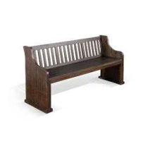 Stockton Bench w/ Back w/ Wood Seat Product Image