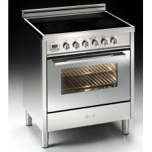 "Stainless Steel with Chrome Trim 30"" - 4 Zone Induction Range"