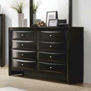 Briana Black Eight-drawer Dresser Product Image