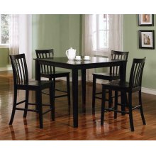 Transitional Black Five-piece Dining Set