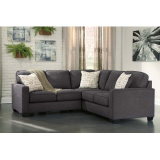 Alenya Sectional Charcoal Right