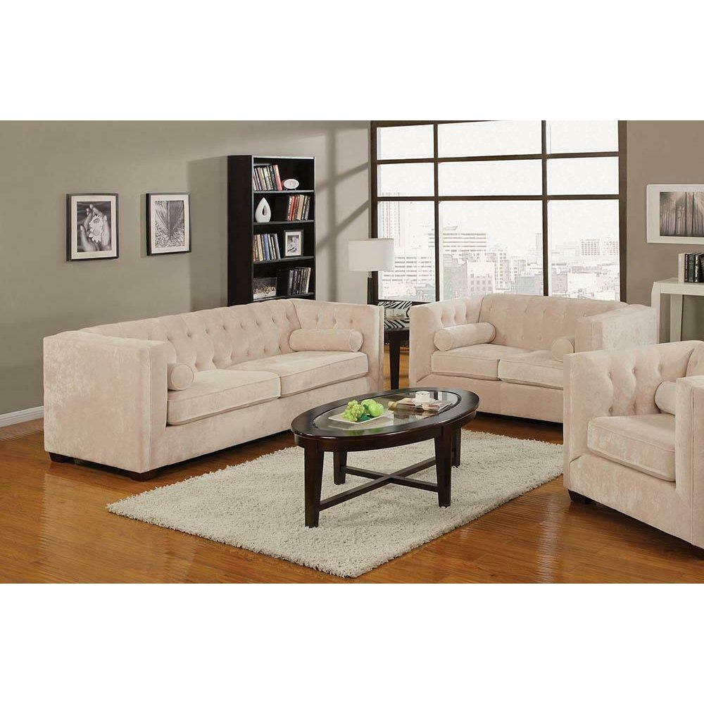 Alexis Almond Two-piece Living Room Set