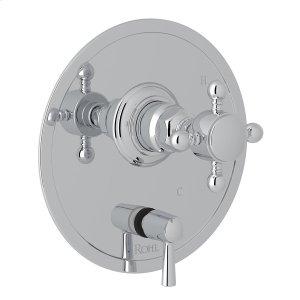 Polished Chrome Italian Bath Pressure Balance Trim With Diverter Product Image