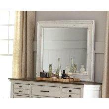 Traditional Vintage White Mirror