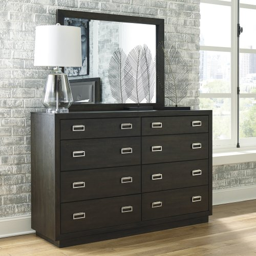 Hyndell - Dark Brown 2 Piece Bedroom Set