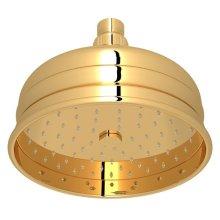 "Italian Brass 6"" Bordano Rain Anti-Cal Showerhead"
