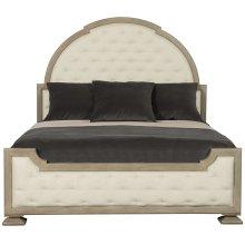 California King-Sized Santa Barbara Upholstered Tufted Panel Bed in Sandstone (385)