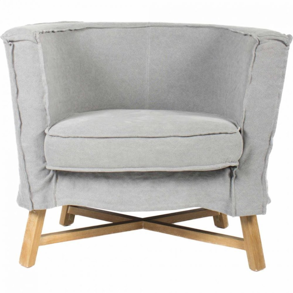Grand Club Chair Light Grey