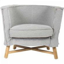 Grand Club Chair Light Grey