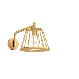 Polished Gold Optic LampShower 275 1jet with shower arm