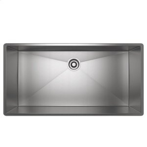 Brushed Stainless Steel ROHL Single Bowl Stainless Steel Kitchen Sink Product Image