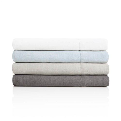 French Linen King Pillowcase Smoke
